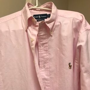 Pink Polo Ralph Lauren Button Up Dress Shirt